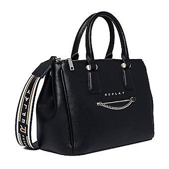 REPLAY ReplayFw3898.000.a0132dWomenBlack Hand Bag (Black) 15x24x34 centimeters (B x H x T)