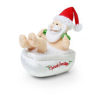 Christmas Shop Animated Singing Bathing Santa