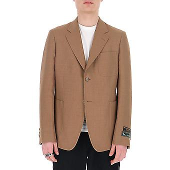 Gucci 590499z403l2471 Hombres's Beige Cotton Blazer