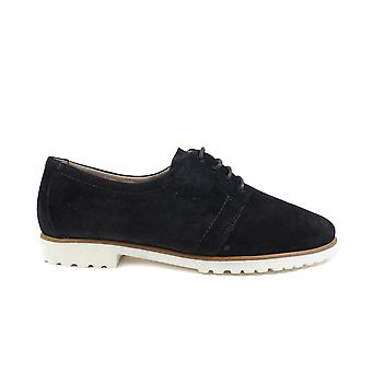 Paul Green 2595-00 Navy Suede Leather Womens Lace Up Shoes