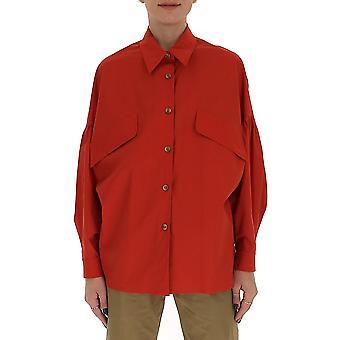 Gentry Portofino D228pag3030 Women's Red Cotton Shirt