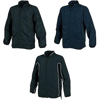 Tombo Teamsport Mens Sports Full Zip Lined Training Top / Jacket
