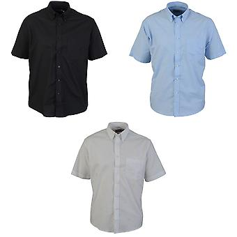 Absolute Apparel Mens Short Sleeved Oxford Shirt