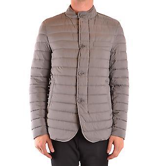 Herno Ezbc034051 Men's Grey Nylon Outerwear Jacket