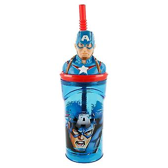 3D Avengers Amerika Kapitány Üveg