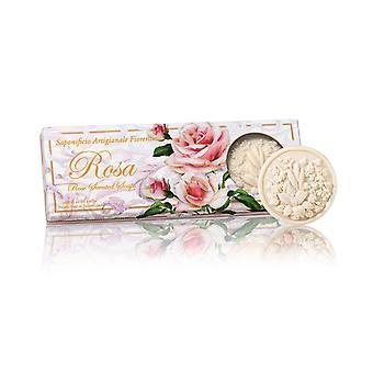 Saponificio Artigianale Fiorentino Handgemaakte Relief Roses Zeep liefdevol verpakt in hoge kwaliteit Gift Box 3x125g