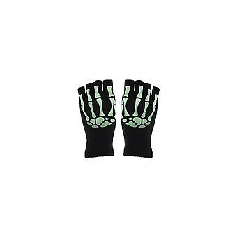 Attitude Clothing Glow In The Dark Skeleton Fingerless Gloves
