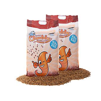 12.6kg chubby dried mealworms - clear bags