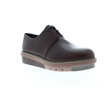 Camper Marta  Womens Brown Leather Lace Up Oxford Flats Shoes