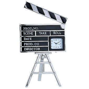TM Directors Film Making Clapperboard Miniature Ornamental Novelty Collectors Desk Clock TM28