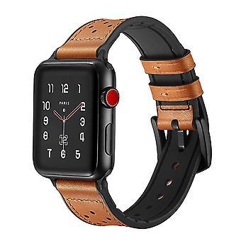 Apple Watch Armband aus echtem Leder/Silikon 42 mm