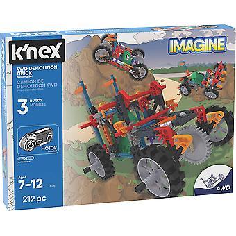 K'Nex forestille 4WD riving lastebil bygningen 212 dødballer 7 +