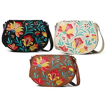 Desigual Women's  Adaggio Rigali Sling Bag with Floral Embroidery