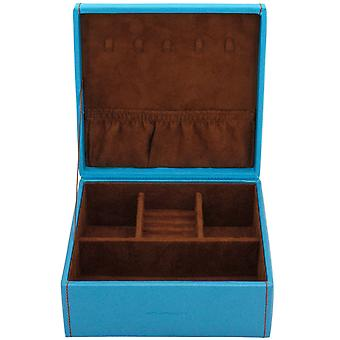 Friedrich leather jewelry case jewelry box BACCARAT blue