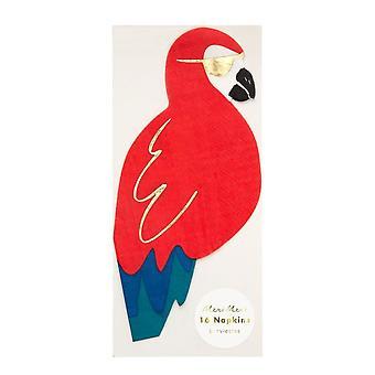 Meri Meri Piraten Papagei Papier Servietten x 16
