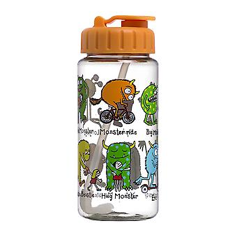 Tyrrell Katz Monsters Design Trinkflasche mit Stroh