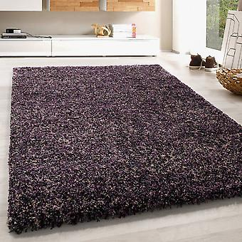 High Flor Shaggy Rug Soft Long Floral Carpet Colorful Grey Purple Beige Mauve Melted
