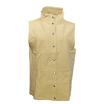 Collections Etc Women's Snap Front Vest Camel Beige