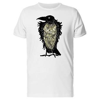 Raven Crow Brush Art Tee Men's -Image by Shutterstock