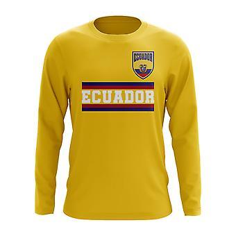 Ecuador Core Football Country Långärmad T-shirt (Gul)