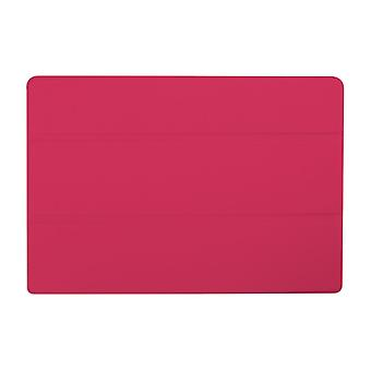 Slim Compact PU Magnetic Leather Case voor Lenovo Tab 10 A3-A30[Hot Pink]