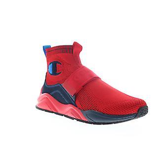 Champion Rally Lockdown Herre Red Mesh Strap High Top Sneakers Sko