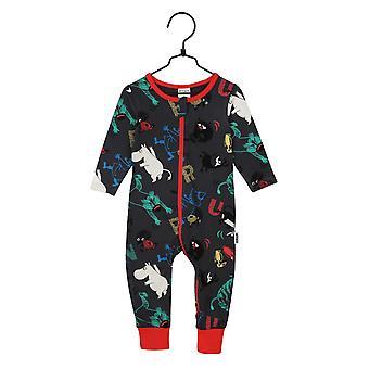 Moomin Fart Pyjama's, Dark Grey, 62 cl, Martinex