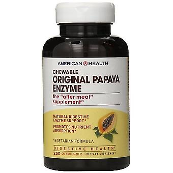 American Health opprinnelige Papaya enzym Chewable tabletter 250 Ct