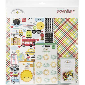 "Doodlebug Essentials Page Kit 12""X12"" - I Heart Travel"