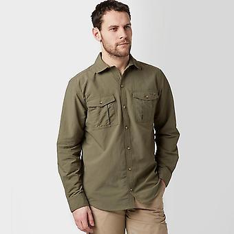 Peter Storm Men's Long Sleeve Travel Shirt Green