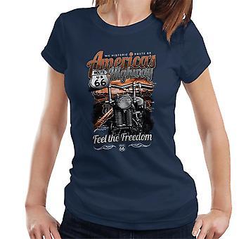 Route 66 America's Highway Women's T-Shirt
