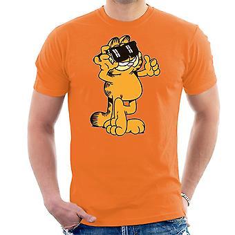 Garfield duimen en zonnebrillen tot mannen ' s T-shirt