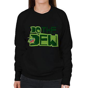 Mountain Dew Do The Dew trykt stil kvinner ' s Pullover