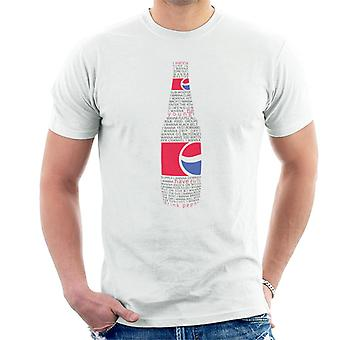 T-shirt Pepsi Text Bottle Homme