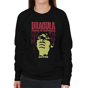 Hammer Dracula Prince Of Darkness Poster Women's Sweatshirt