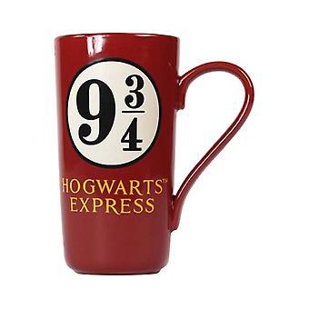 Harry Potter Mug Hogwarts Platform 9 3/4 new Official Latte mug Red Boxed