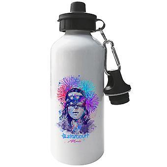 Water Colour Upside Down Stranger Things Aluminium Sports Water Bottle