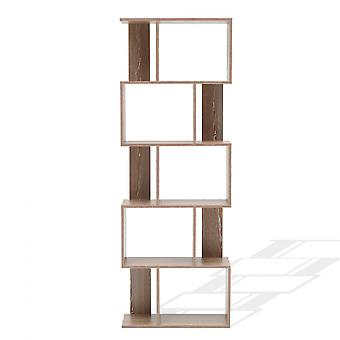 Rebecca Huonekalut Hylly Kirjasto 5 Modern Brown Wood Hyllyt 172.5x60x24