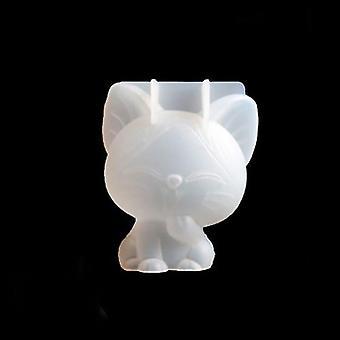 3D Jednorožec, Mačiatko, Bear silikónový tortu forma - Transparentné Diy Fondant Pena