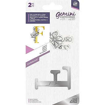 Gemini Letter F Expressions Foil Stamp Die & Stamp