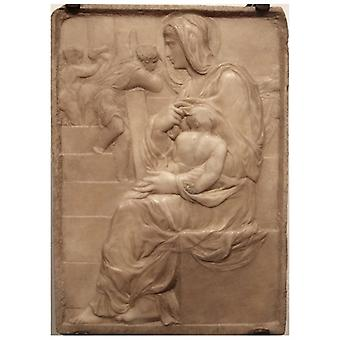 Print on canvas - Madonna Della Scala - Michelangelo Buonarroti - Painting on Canvas, Wall Decoration