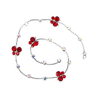 Round, Butterfly, Flower Shape, Rhinestone Hair Braid Chain For Styling