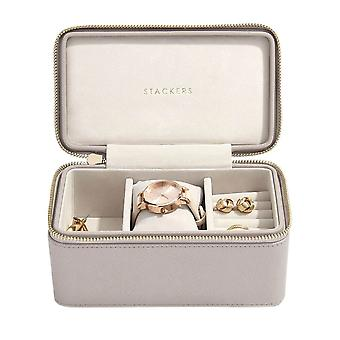 Stackers Taupe Faux Leather Deep Watch Travel Jewellery Box