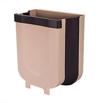 Perete-montat collapsible Bucătărie Trash Can Brown