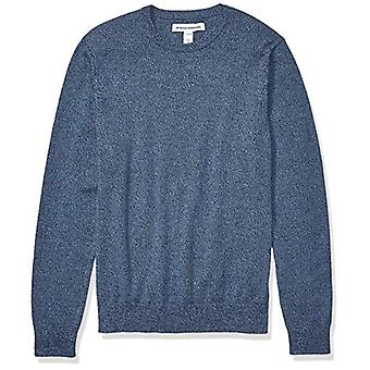 Essentials Men's Crewneck Sweater Sweater, -Navy Space-Dye, Medium