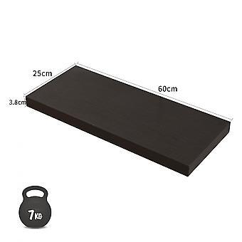 Rebecca Furniture 2 Planken Moderne Bruine Planken Wenge Mdf 4x60x25