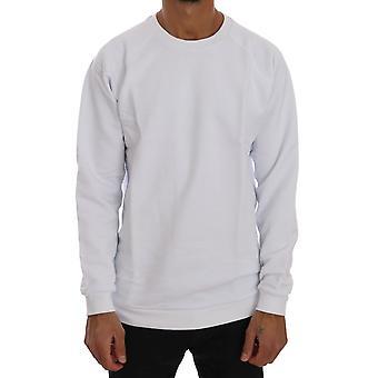 Suéter branco de algodão Crewneck TSH1343-4