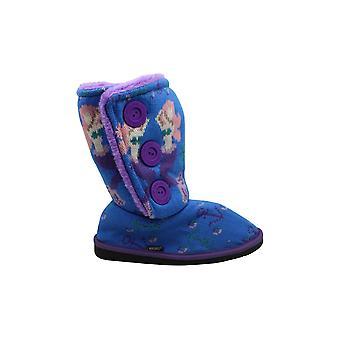 MUK LUKS Girls Malena Boots Fashion, Blue, 3
