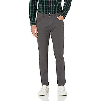 Goodthreads Men's Skinny-Fit 5-Pocket Chino, Gris, 38W x 28L