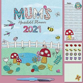 Otter House 2021 Wall Calendar-mums Fabric Household Planner
